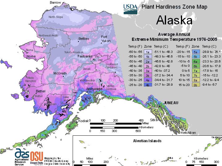 alaska plant zones