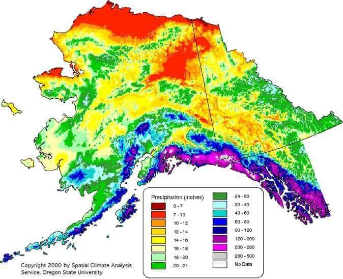 alaska rainfall