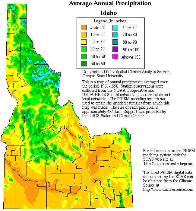 Idaho rainfall