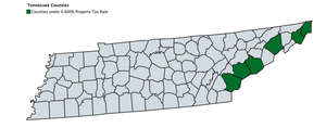 Tennessee counties with the lowest tax rate