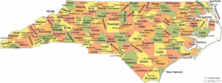 all north carolina counties