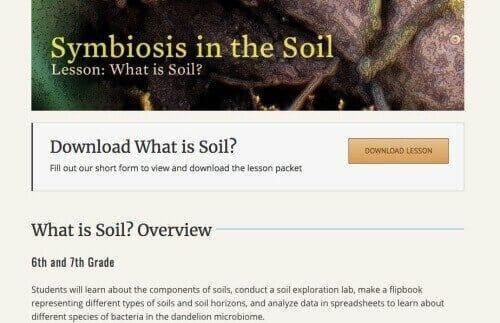 soil homeschool science project