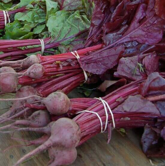 Bunching beets